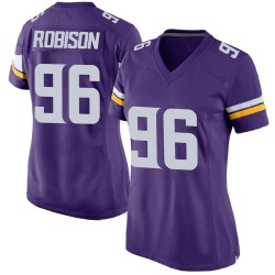 Brian Robison Minnesota Vikings Women's Game Team Color Nike Jersey - Purple