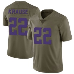 Paul Krause Minnesota Vikings Men's Limited Salute to Service Nike Jersey - Green
