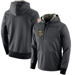 Men's Minnesota Vikings Anthracite Salute to Service Player Performance Hoodie